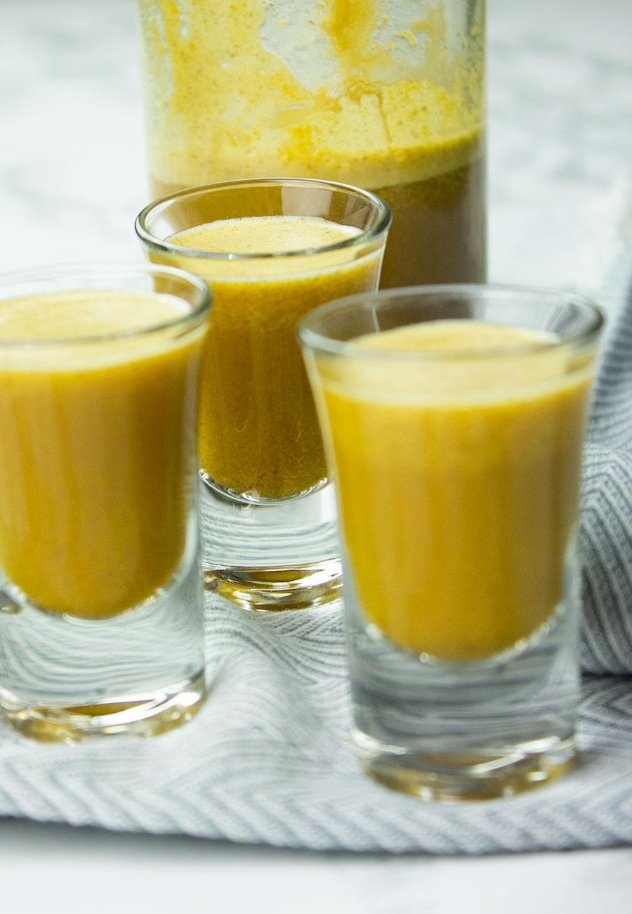 Healing turmeric shot drink