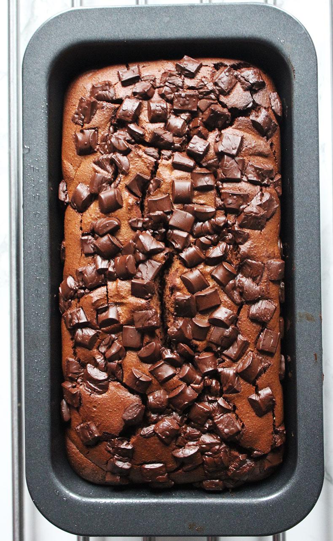 DAIRY & REFINED SUGAR FREE DARK CHOCOLATE LOAF CAKE