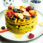 Healthy homemade waffles - gluten-free and vegan