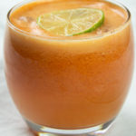 Detox carrot juice with lime