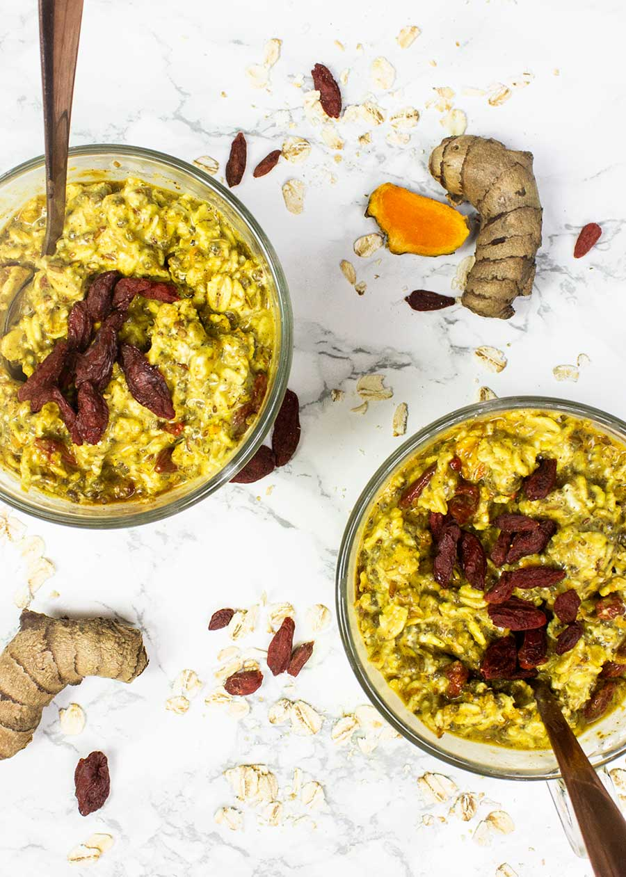 Anti-inflammatory overnights oats