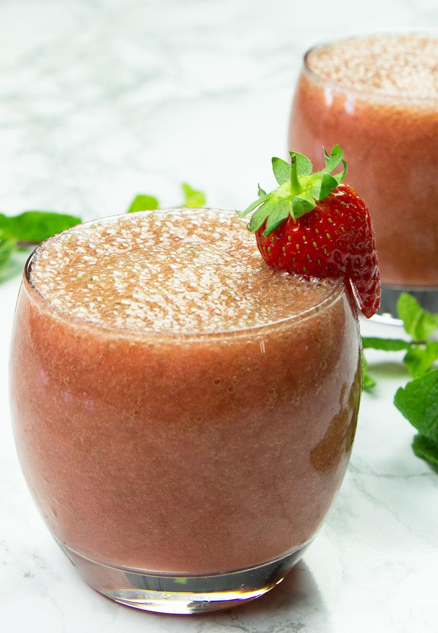 Grapefruit Strawberry Breakfast Smoothie