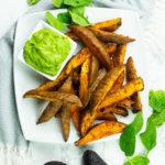 Sweet potato chips with Avocado Aioli