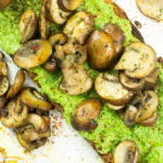 Mushrooms on toast with pesto recipe