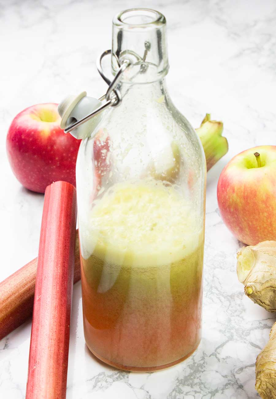 Rhubarb Juice Recipe With Apple And Ginger The Anti Cancer Kitchen