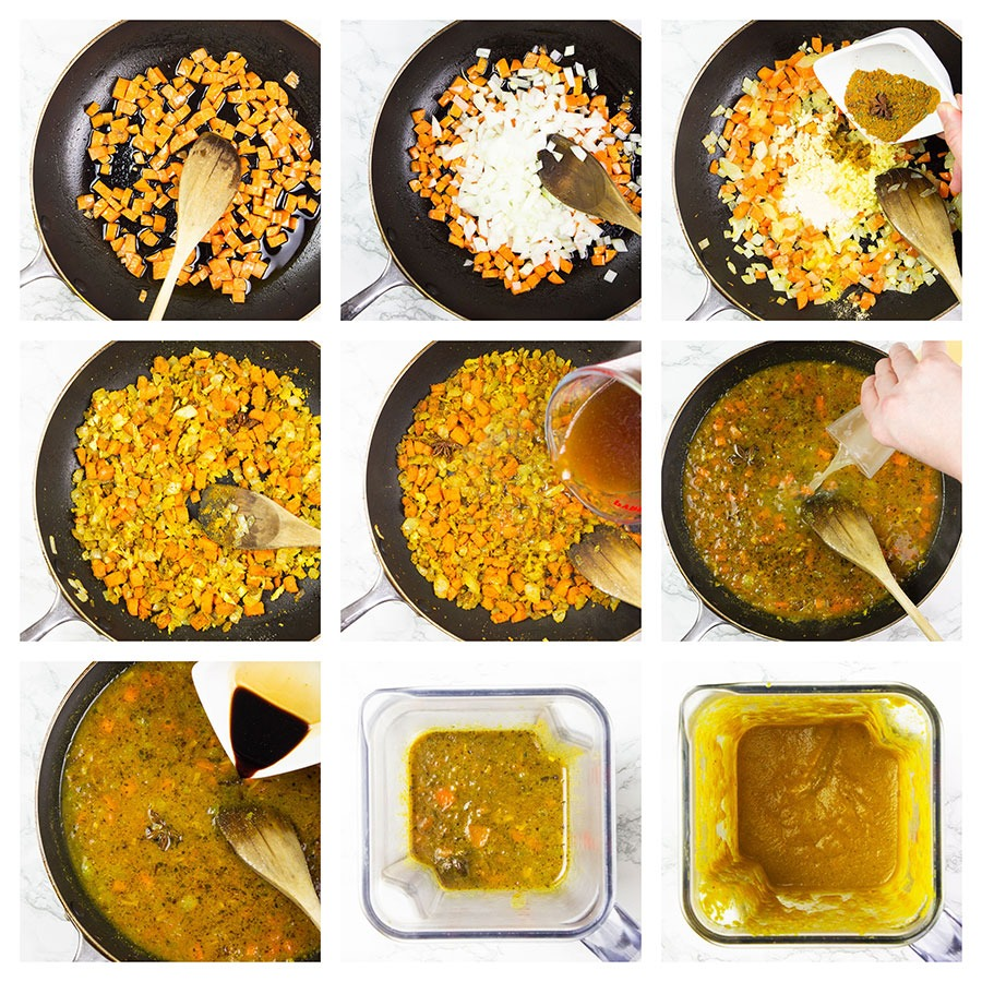 Katsu curry sauce step-by-step