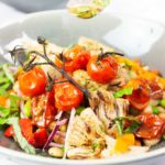 Mediterranean Bean salad in bowls