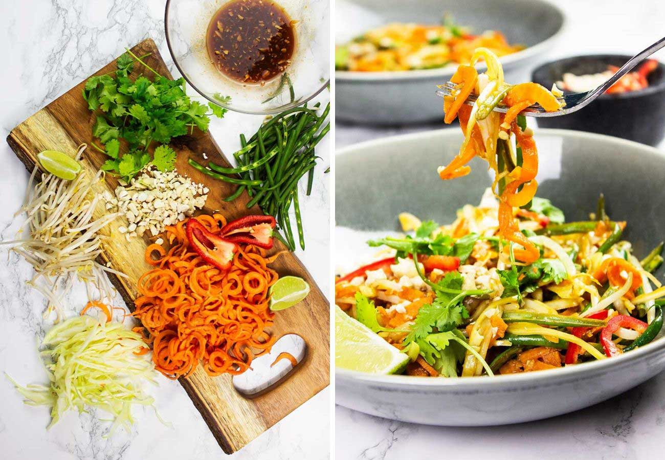Plant-Based Pad Thai ingredients