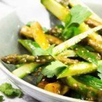 Asparagus cucumber salad
