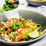 Vegan Pad Thai recipe with sweet potato noodles