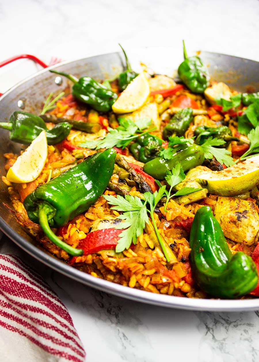 Vegetable paella dish