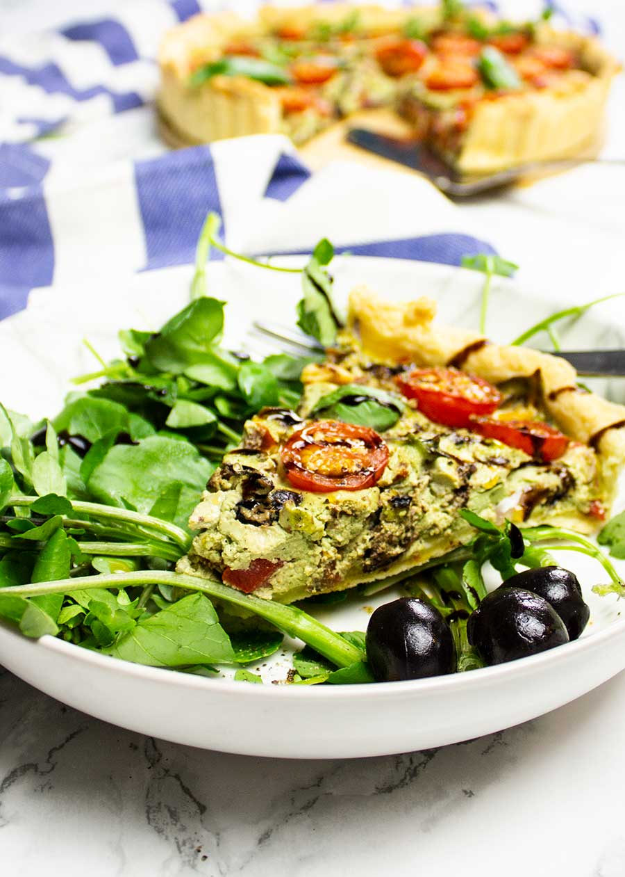 Vegan quiche recipe that is easy and healthy