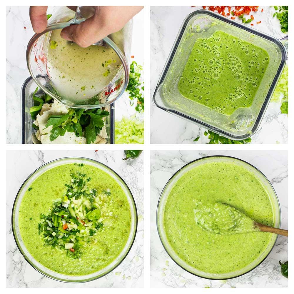 Step-by-step gazpacho soup