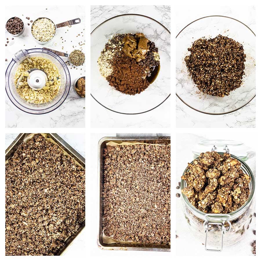 Step-by-step chocolate granola