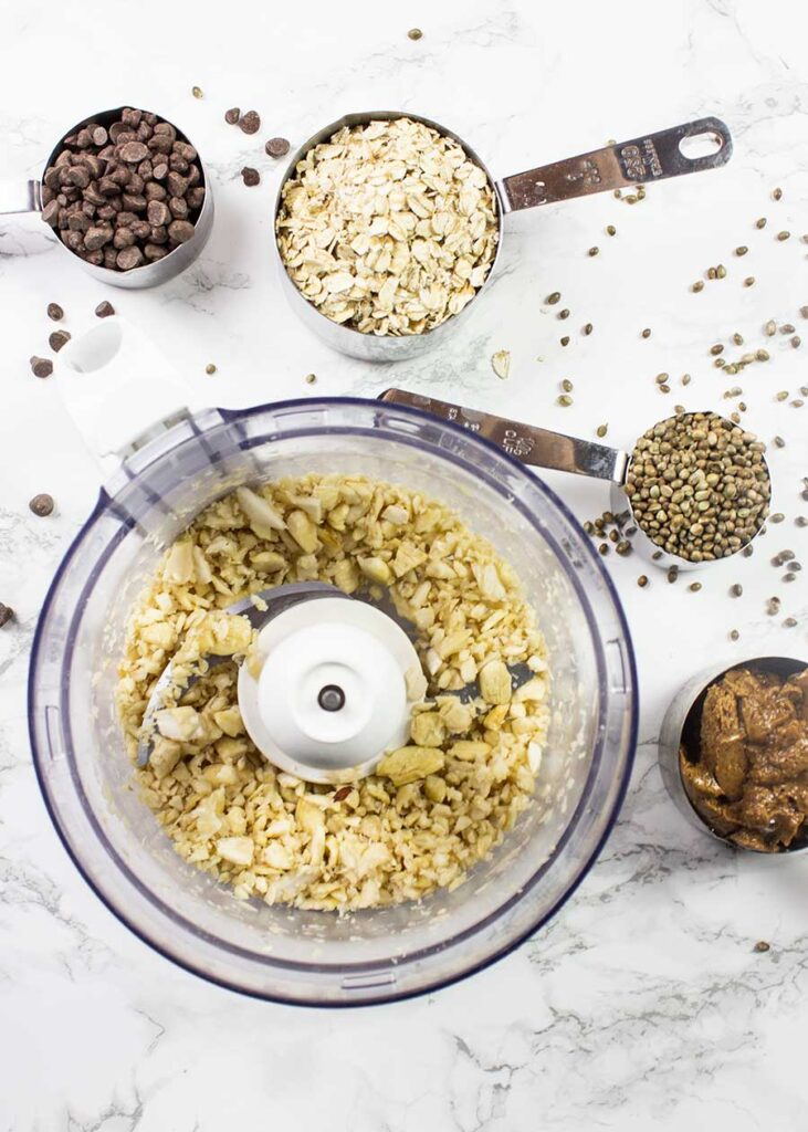 Ingredients for homemade chocolate granola
