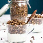 Chocolate granola recipe - oil-free + vegan