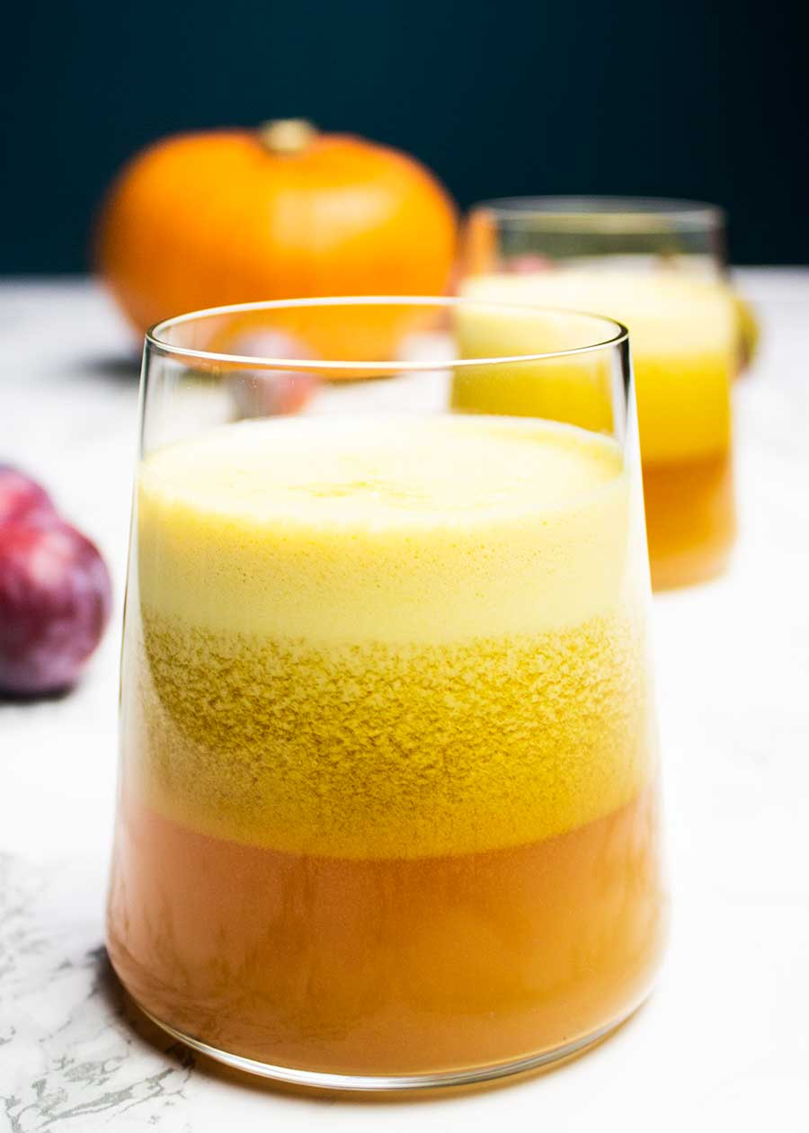 Delicious plum juice recipe with pumpkin and apple