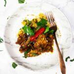 Vegan tagine recipe with eggplant/aubergine