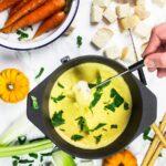 Vegan homemade fondue
