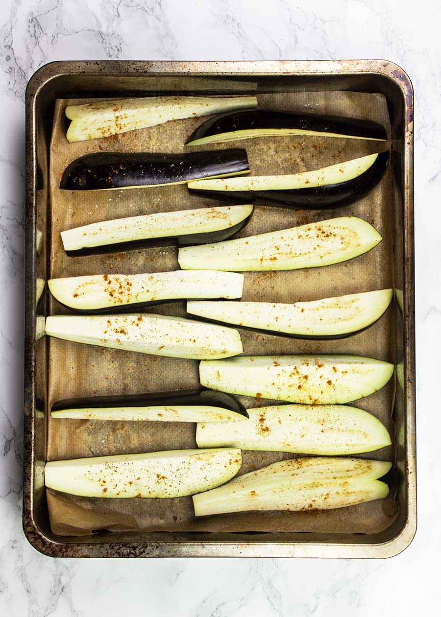 How to roast eggplant