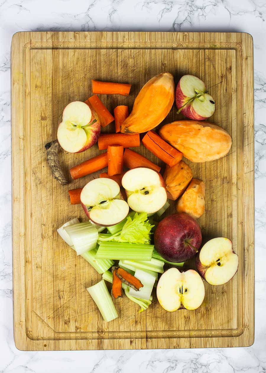 Juicing sweet potatoes and other fruit and vegetables