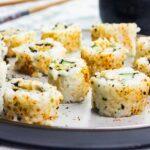 Vegan spicy tuna roll