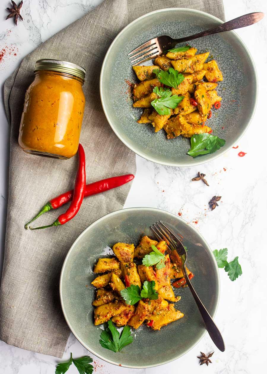 Pumpkin gnocchi recipe with spiced pesto