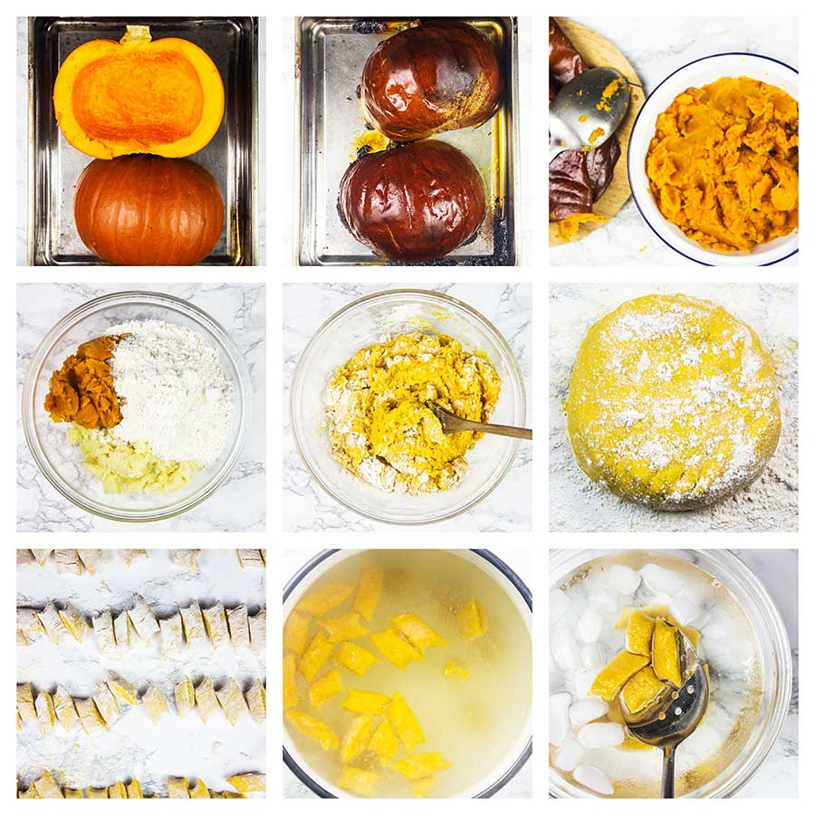 Step by step pumpkin gnocchi