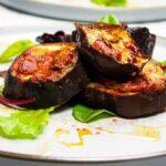 Baked eggplant/aubergine slices