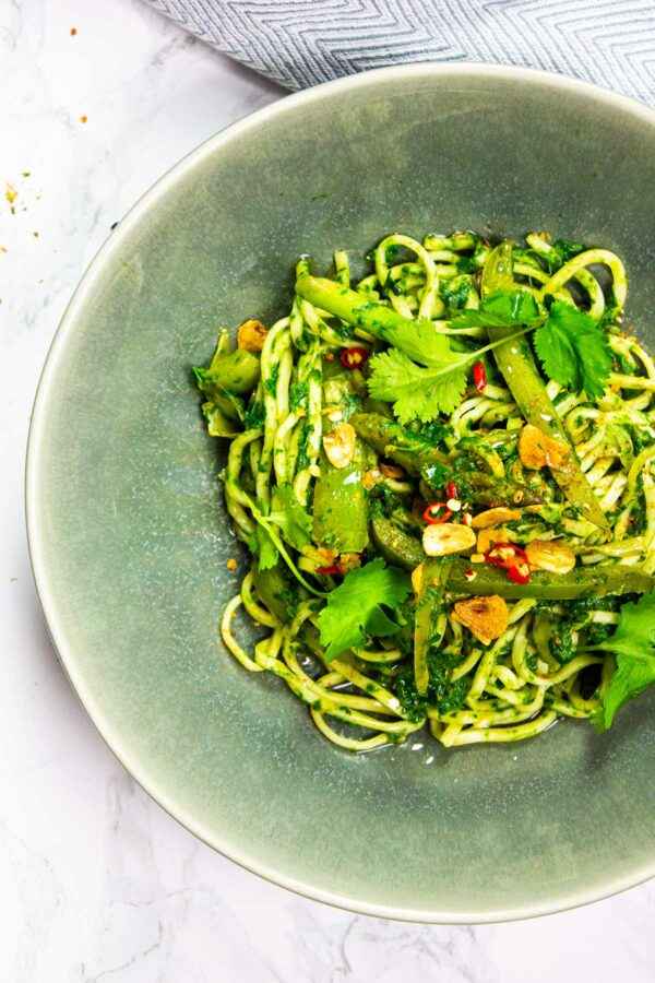 Green vegan stir fry